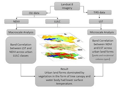 Microclimate land surface temperatures across urban land use/ land cover forms