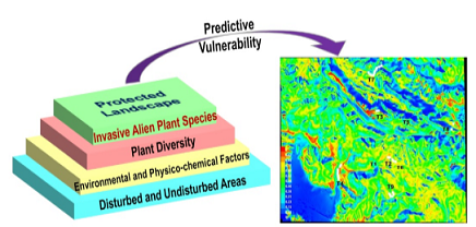 Ecological niche modeling of invasive alien plant species in a protected landscape