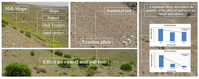 Effect of natural land covers on runoff and soil loss at the hill slope scale